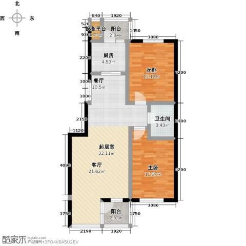 美域盛景二期2室0厅1卫1厨101.00㎡户型图