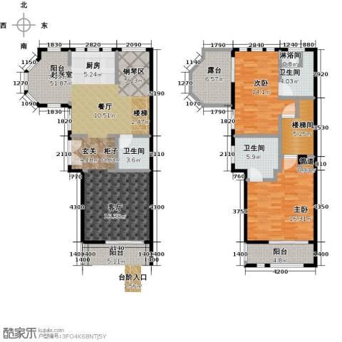 山水路8号2室0厅3卫0厨152.00㎡户型图