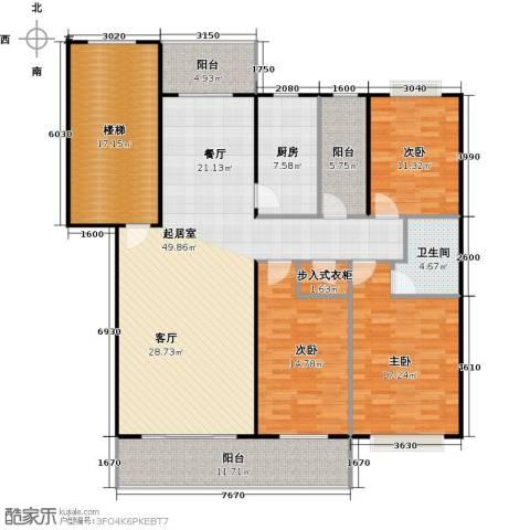天龙花园3室0厅1卫1厨146.60㎡户型图