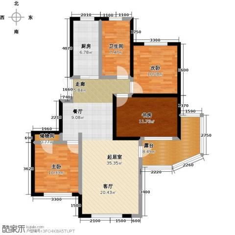 美域盛景二期3室0厅1卫1厨132.00㎡户型图