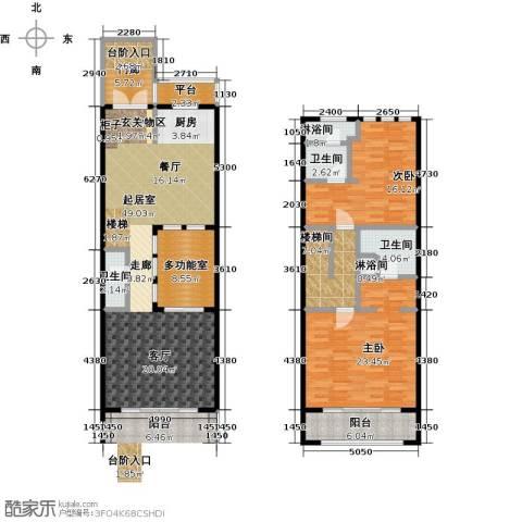 山水路8号2室0厅3卫0厨164.00㎡户型图