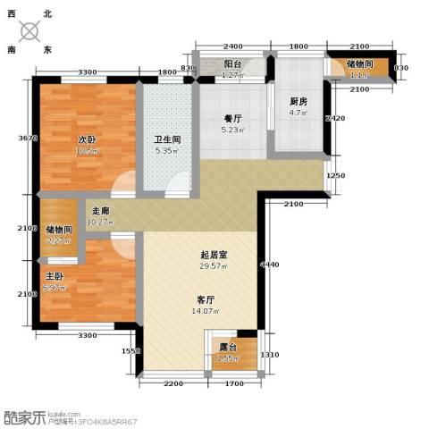 美域盛景二期2室0厅1卫1厨95.00㎡户型图