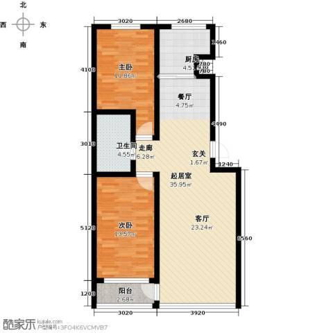 泰锋俪景城一期(地产房)2室0厅1卫1厨73.12㎡户型图
