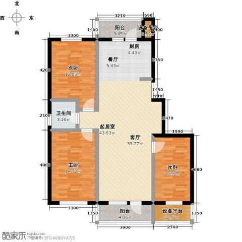 美域盛景二期3室0厅1卫0厨138.00㎡户型图
