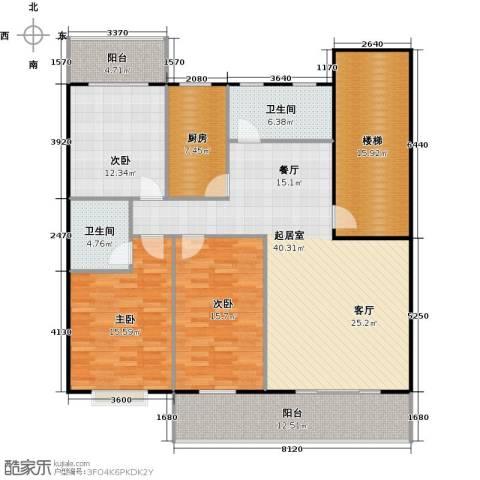天龙花园3室0厅2卫1厨140.00㎡户型图