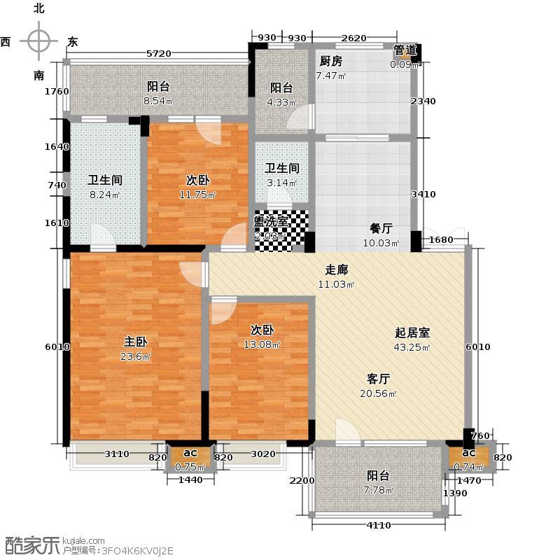 优品天地149.10㎡三层c5户型3室2厅2卫