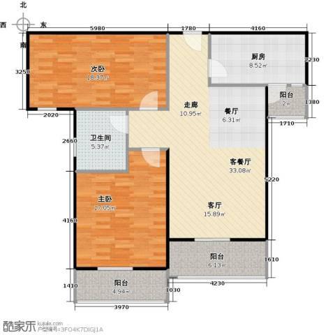 汉武国际城2室1厅1卫1厨95.46㎡户型图