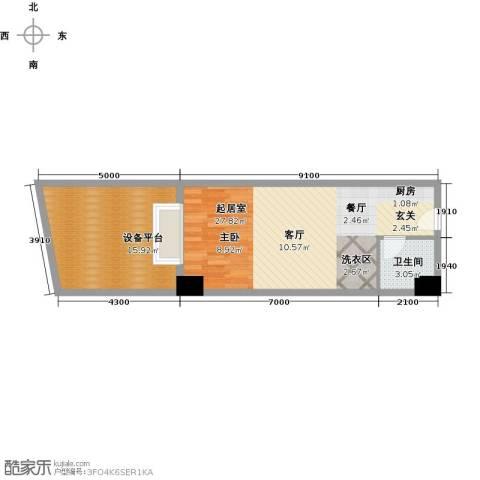丽都公寓(七彩丽都)1卫0厨50.00㎡户型图