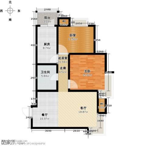 华城领秀三期1室0厅1卫1厨85.00㎡户型图