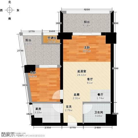 丽都公寓(七彩丽都)1室0厅1卫1厨80.00㎡户型图