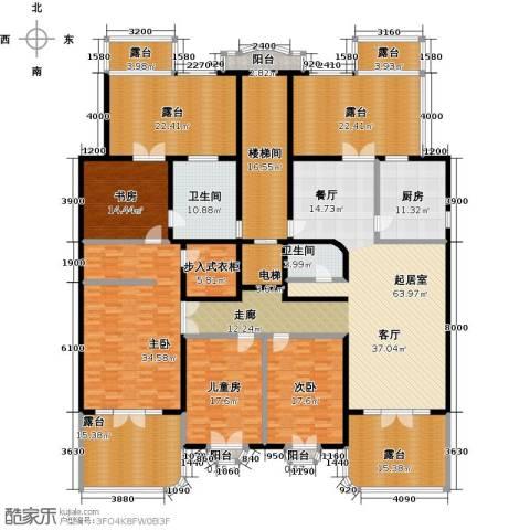 万泉新新家园4室0厅2卫1厨408.00㎡户型图