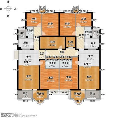 亚太国际公馆6室2厅4卫2厨243.05㎡户型图