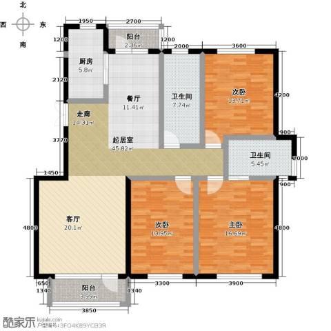 美域盛景二期3室0厅2卫1厨165.00㎡户型图