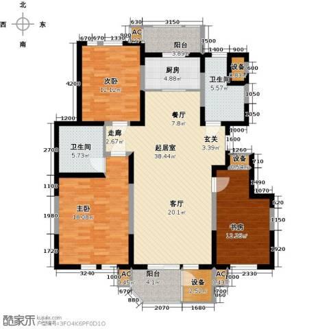 第6城三期3室0厅2卫1厨158.00㎡户型图