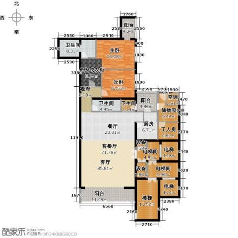 融泽府2室1厅3卫1厨205.00㎡户型图