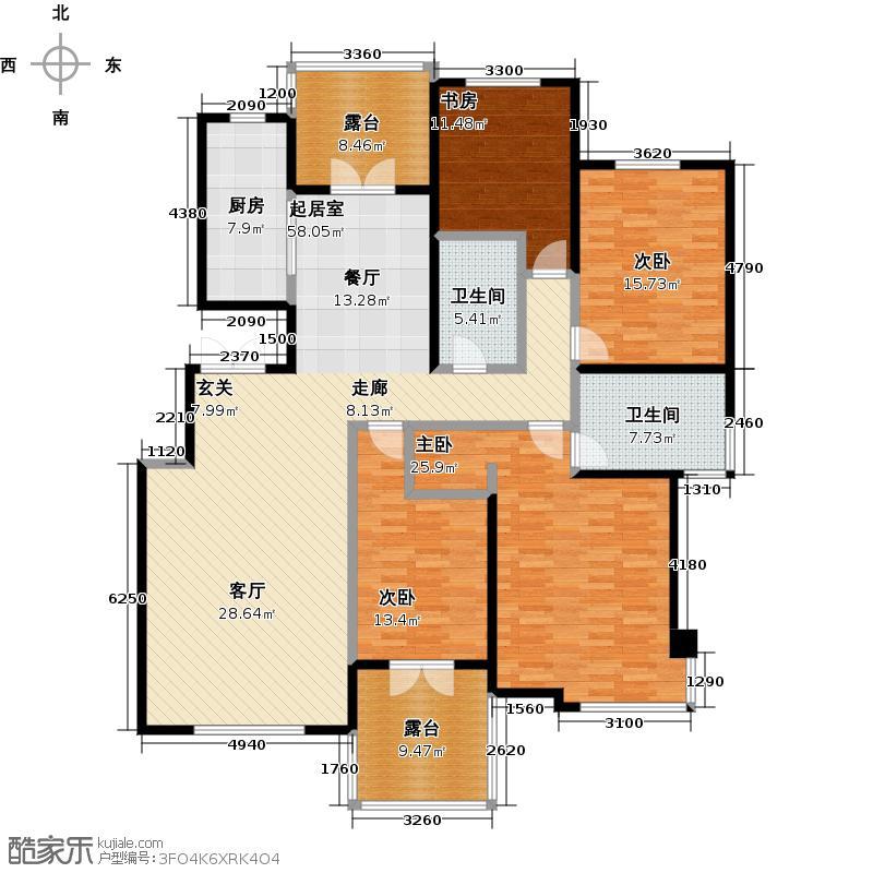 津滨滨海国际181.90㎡四室二厅二卫户型