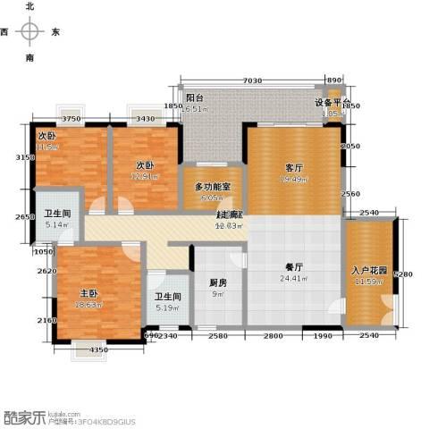 橄榄君庭3室0厅2卫1厨177.00㎡户型图