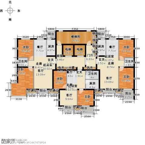 永康水印城6室0厅3卫3厨353.00㎡户型图