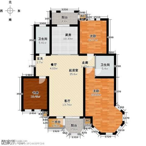 第6城三期3室0厅2卫1厨164.00㎡户型图