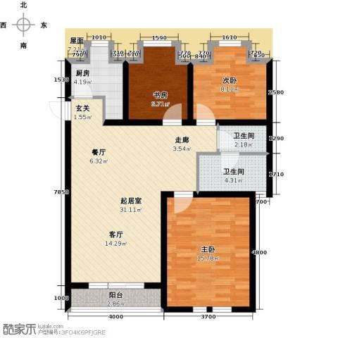 第6城三期3室0厅2卫1厨109.00㎡户型图
