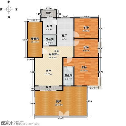 蓝调沙龙3室0厅2卫1厨130.00㎡户型图