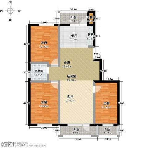 美域盛景二期3室0厅1卫0厨136.00㎡户型图