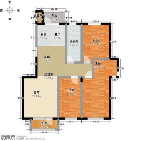 美域盛景二期3室0厅1卫0厨141.00㎡户型图