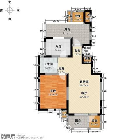 第6城三期1室0厅1卫1厨109.00㎡户型图