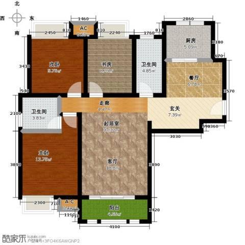 泰达御海3室0厅2卫1厨140.00㎡户型图