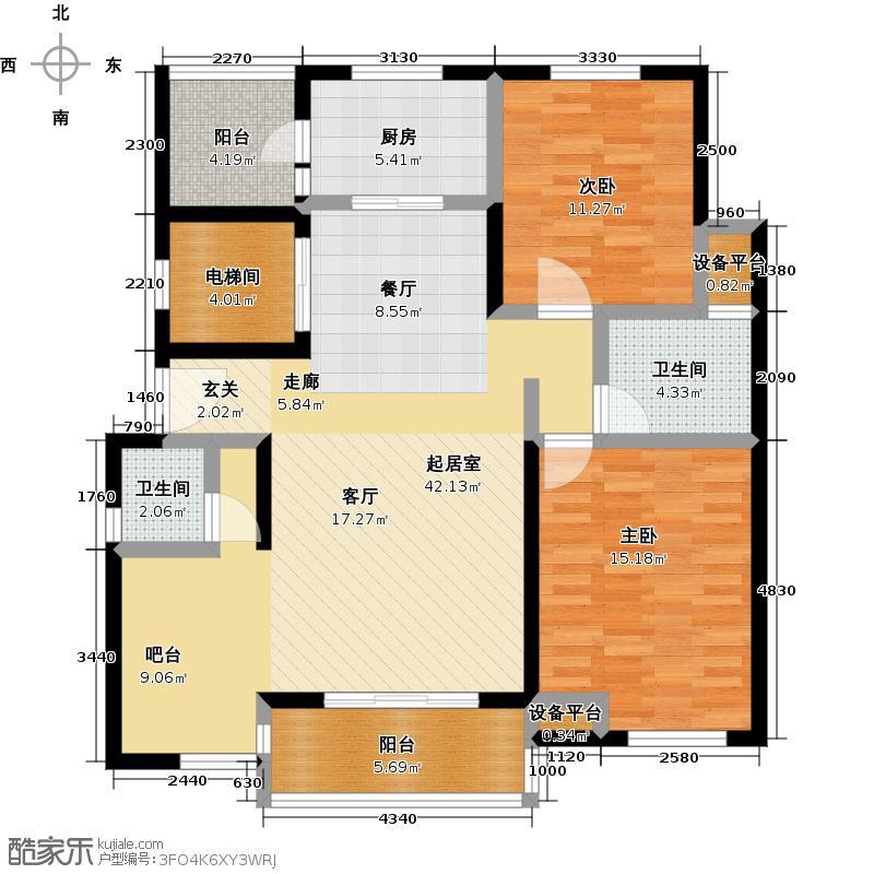 中大九如堂一期110.00㎡房型: 二房; 面积段: 110 -120 平方米; 户型
