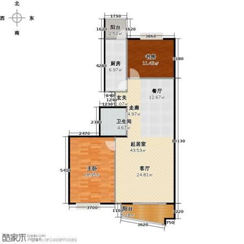万润家园2室0厅1卫1厨100.00㎡户型图