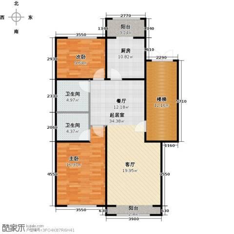 蓝调沙龙2室0厅2卫1厨98.00㎡户型图