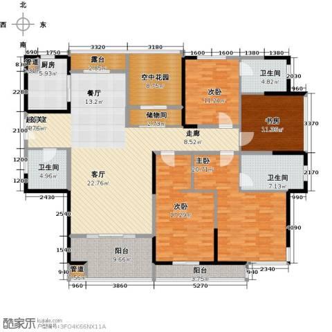 凯纳华侨城4室0厅3卫1厨226.00㎡户型图