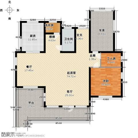 蟠龙山水三期1室0厅1卫1厨183.00㎡户型图