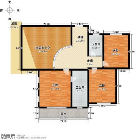 蟠龙山水三期3室0厅2卫0厨198.00㎡户型图