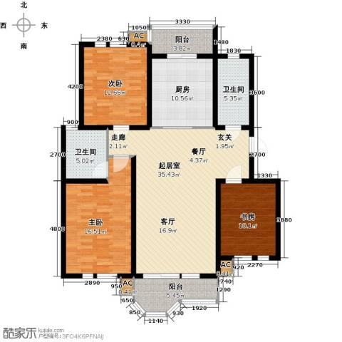 第6城三期3室0厅2卫1厨152.00㎡户型图