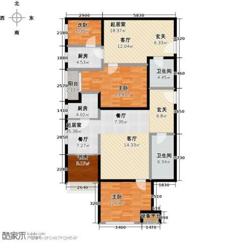 中商万豪峰彩4室0厅2卫2厨161.00㎡户型图