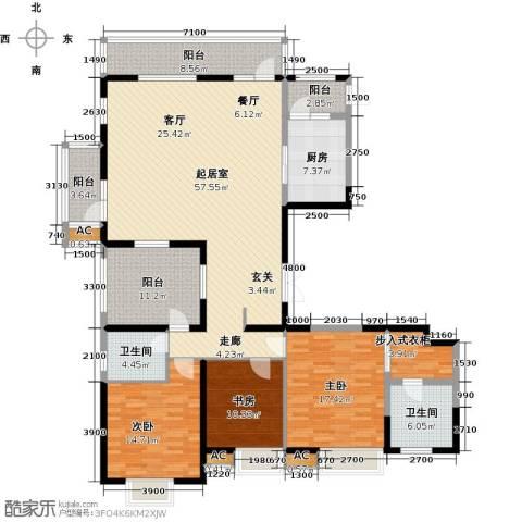 金地长青湾3室0厅2卫1厨170.27㎡户型图