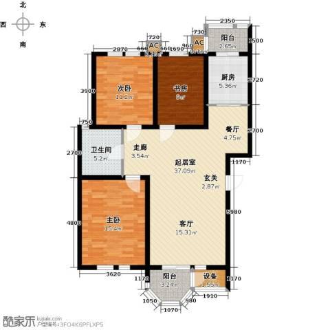 第6城三期3室0厅1卫1厨131.00㎡户型图