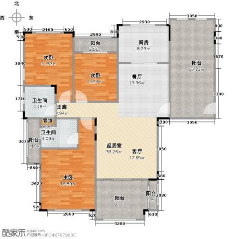 碧桂园凰城3室0厅2卫1厨125.00㎡户型图