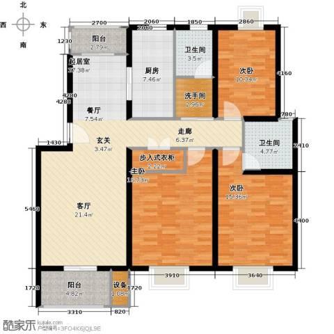 大富苑商业3室0厅2卫1厨155.00㎡户型图