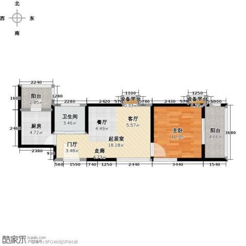 合泰花园(金仕雅筑)1室0厅1卫1厨61.00㎡户型图
