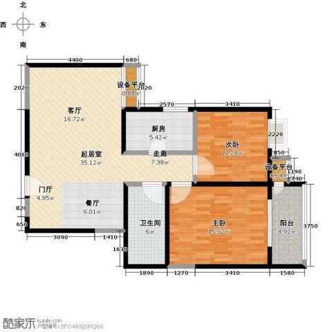 合泰花园(金仕雅筑)2室0厅1卫1厨99.00㎡户型图