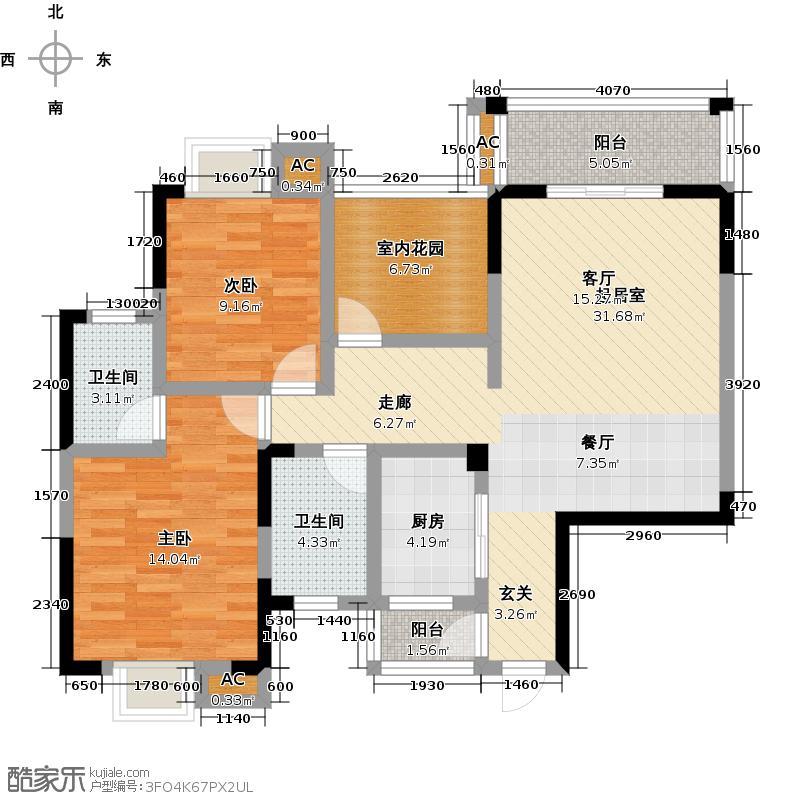 瑞和家园105.57㎡瑞和家园户型图(2/2张)户型2室2厅1卫