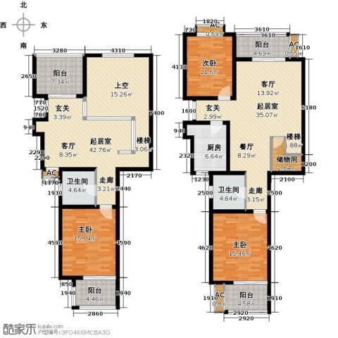 怡湖华庭澜郡3室0厅2卫1厨188.00㎡户型图