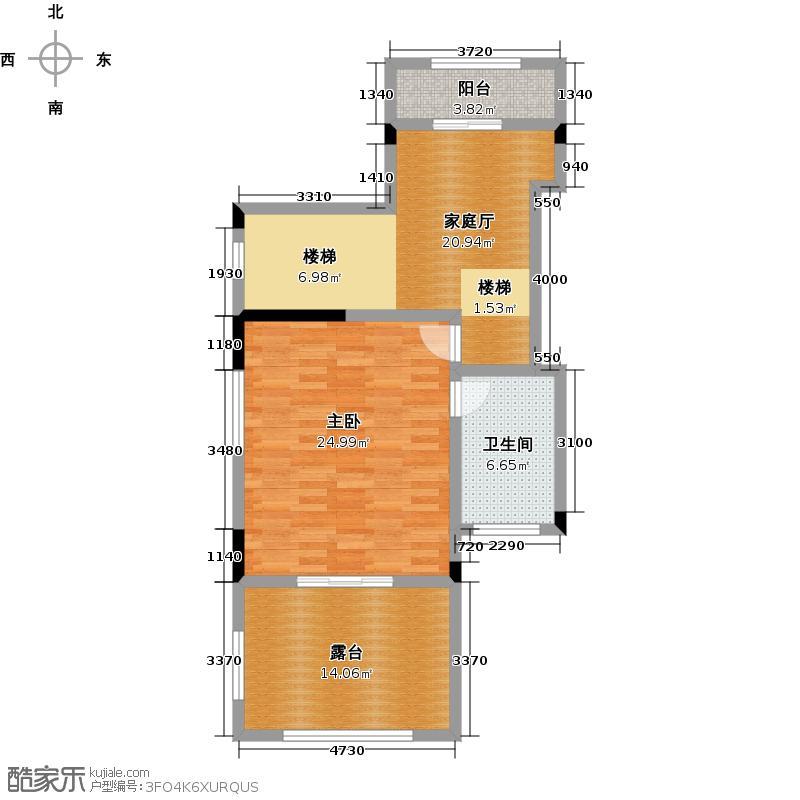 天保美墅林A三层户型1室1卫