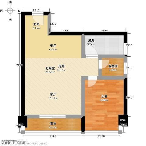 嘉顿新天地一期1室0厅1卫1厨61.00㎡户型图