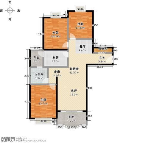 胡姬花园二期3室0厅1卫1厨120.00㎡户型图