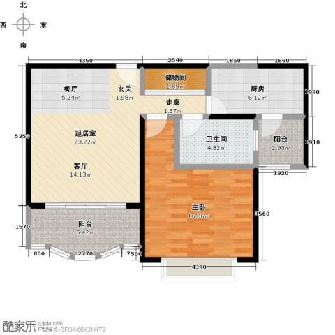 胡姬花园二期1室0厅1卫1厨70.00㎡户型图