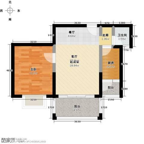 中华坊1室0厅1卫1厨47.00㎡户型图